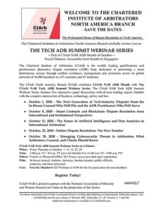 The Tech ADR Summit Webinar Series: 'Managing Cybersecurity Threats in Arbitration: What Arbitrators, Counsel, and Clients Should Know'