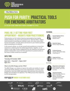 """""""Push for Parity: Practical Tools for Emergency Arbitrators – Panel No. 2: Getting Your First Appointment: Insights from Practitioners"""""""