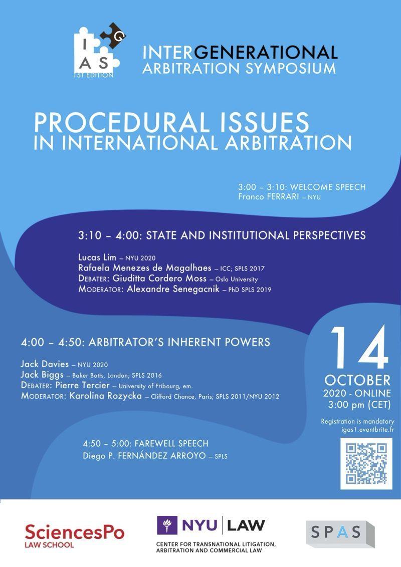 Inter-Generational Arbitration Symposium: Procedural Issues in International Arbitration